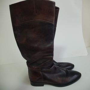 Hugo boss size 9 tall leather boots